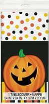 Smiling Pumpkin Plastic Tablecover